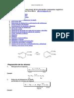 Sinopsis Sintesis Reacciones Compuestos Organicos