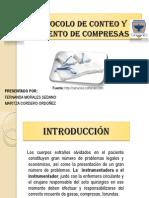 Protocolo de Conteo y Recuento de Compresas - Reemplazos Articulares