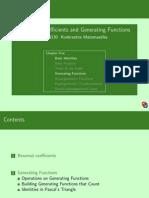 Binomial Generating Functions