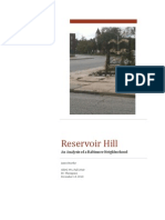 Reservoir Hill - Analysis of a Baltimore Neighborhood