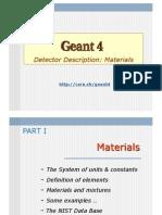 Geant4 Materials