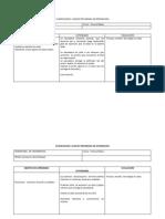 Planificacion Clase en Programa de Integracion