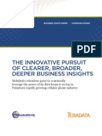 The Innovative Pursuit of Clearer, Broader, Deeper Business Insights