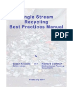 Single Stream Recycling Best Practices Manual