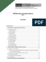 Informe Deuda Publica 2011