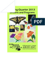 Fox River Academy Spring 2013 Brochure