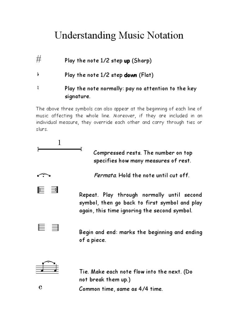 Understanding music notation musical notation clef biocorpaavc Gallery