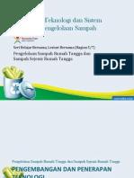 Pengembangan Teknologi dan Sistem Informasi Pengelolaan Sampah