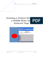 Creating a Project Node and a SCADA Node With External Tags