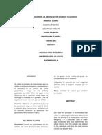 DETERMINACIÓN DE LA DENSIDAD  DE SÓLIDOS Y LÍQUIDOS