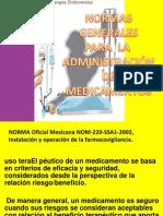 Normas para la preparación de medicamentos