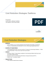 Cost Reduction Strategies Taskforce