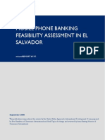 mR146 - Mobile Phone Banking Feasibility Assessment in El Salvador