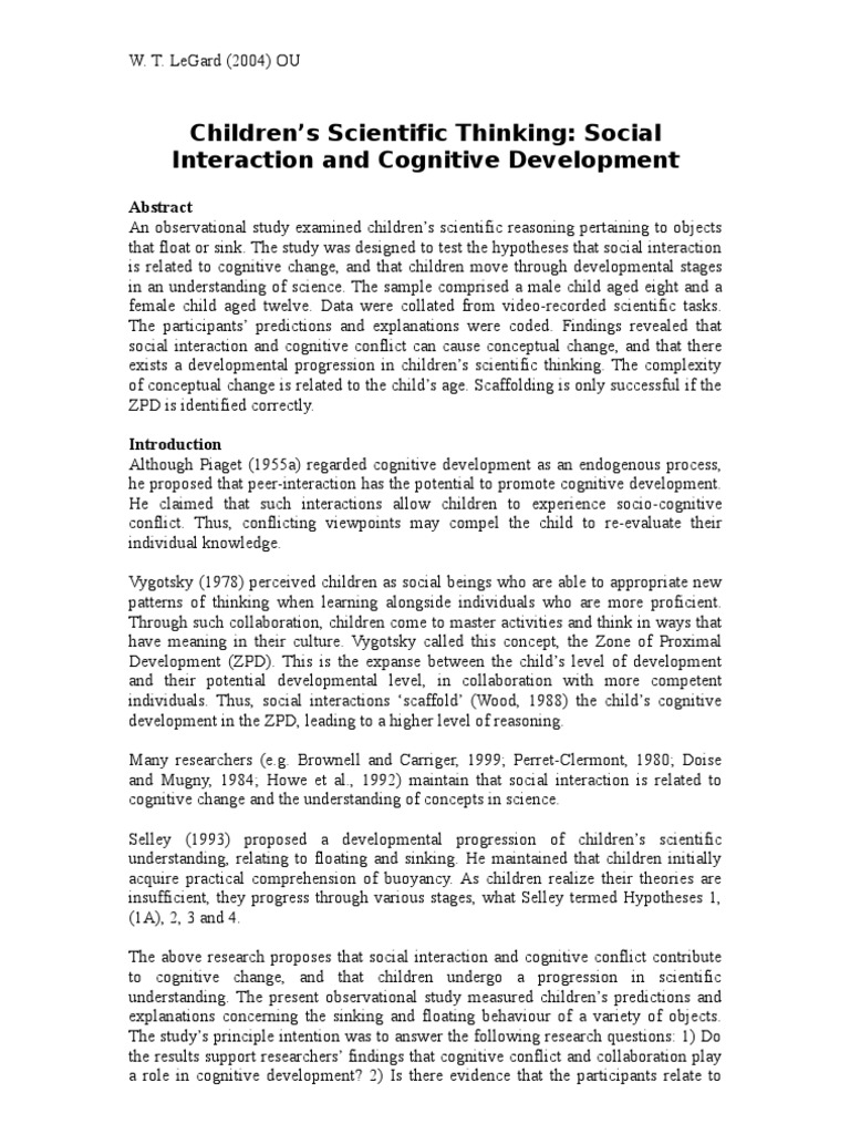 children s scientific thinking social interaction and cognitive children s scientific thinking social interaction and cognitive development