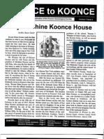 Koonce To Koonce Newsletter - Vol 1, No. 2