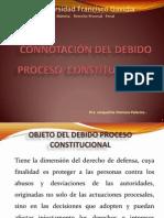 CONNOTACIÓN DEL DEBIDO  PROCESO