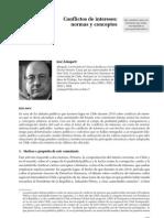 Conflictos de intereses. Normas y conceptos (José Zalaquett, 2011)