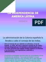 LA INDEPENDENCIA DE AMERICA LÁTINA