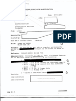 FBI Communication about Documents Seized after Arrest of Al-Qaeda Operative from 9/11 Commission's Files