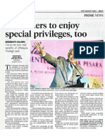 Pensioners to enjoy special privilages, too