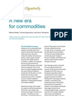 Soaring Commodity Prices Mckinsey Study