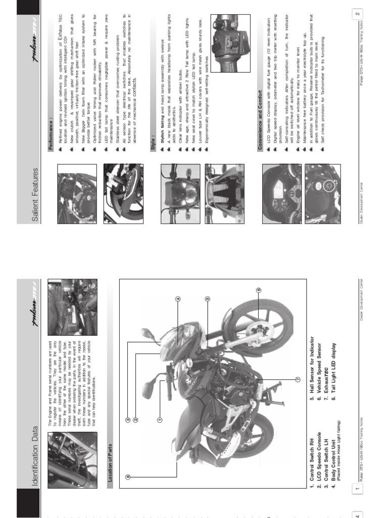 Bajaj Pulsar 135 Ls Wiring Diagram Trusted Diagrams Dtsi Service Manual Motor Oil Brake 150