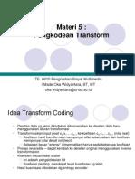 Materi 5 Transform Coding