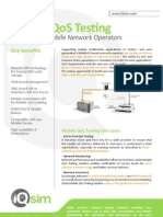 Mobile QoS Testing Solutions