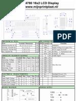 HD44780 16x2 Character LCD Display