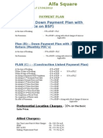 Payment Plan (17th April 2012)