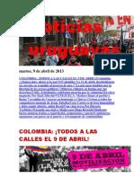 Noticias Uruguayas Martes 9 de Abril Del 2013