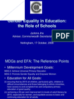Gender Equality in Education