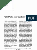 Daniel Bertaux - Los relatos de vida, perspectiva etnosociologica - Reseña de Javier Callejo