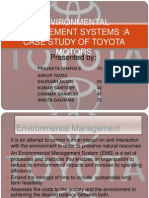 Environment management system:A case study of Toyota Motors