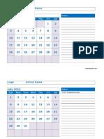2012 Monthly Jun Sep Calendar