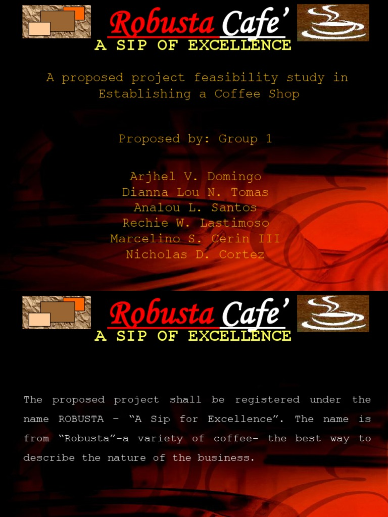 134865998 robusta coffee shop a feasibility A feasibility study conclusion sample coffee shop part ii 1 how often do you drink coffee  134865998 robusta coffee shop a feasibility study.