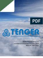 TFG 2012 Financial Highlights 1Q (Unaudited)