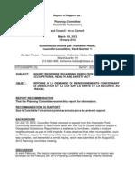 Asbestos report to planning committee