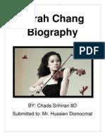 sarah chang biography
