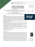 The Concept of Alienation Towards Conceptual Clarity