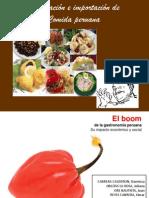 Exportación e importación de Comida peruana