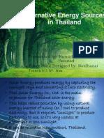 Alternative Resources in Thailand