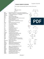 Acronyms organic chemistry