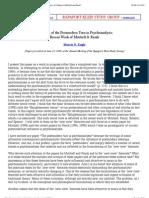 Morris N. Eagle, 'The Postmodern Turn in Psychoanalysis