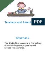 Non-Assertive Teacher, Assertive Teacher and Hostile Teacher