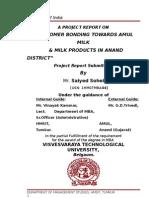 consumer bonding towards amul milk & milk products