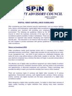 Digital Video Surveillance Guidelines