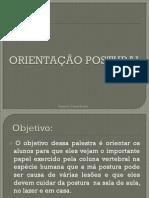 ORIENTAÇÃO POSTURAL