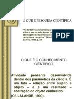 2 O QUE +ë PESQUISA CIENT+ìFICA