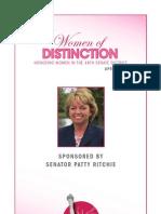 Senator Patty Ritchie 2013 Women of Distinction